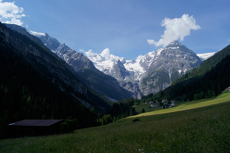 Blick Bellavista auf Madatschgletscher