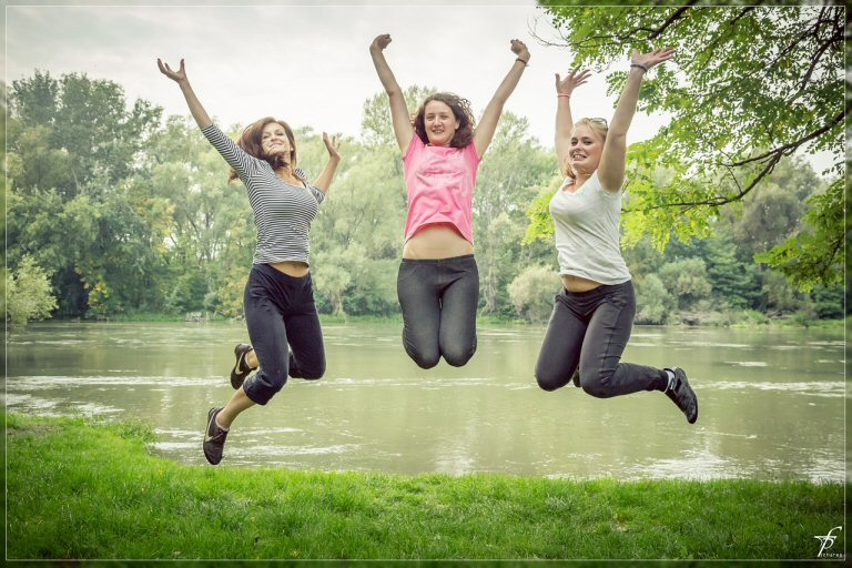 Joggen, Laufen und dann Hüpfen