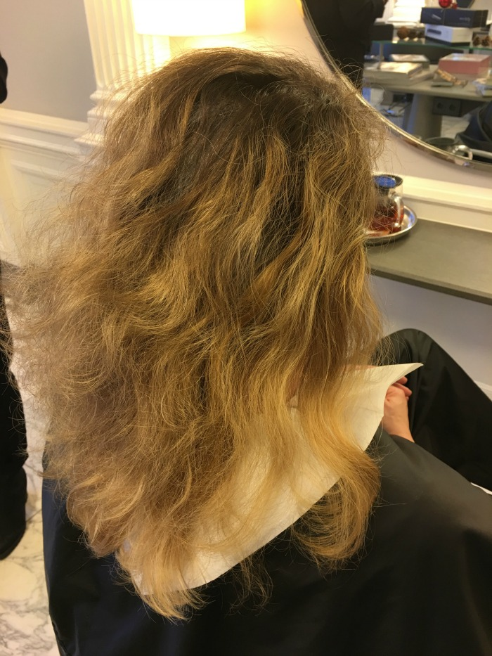 Verpfuschte Haare vorher 40-something.de