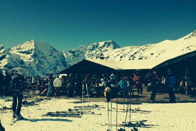 Skikurs in Südtirol