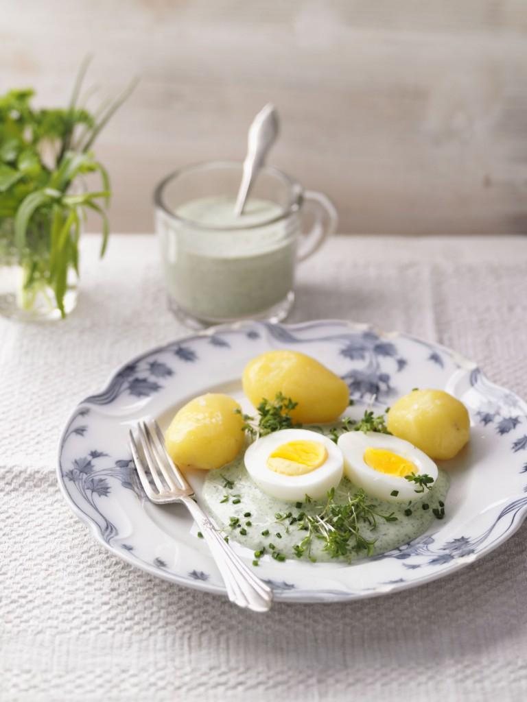 Frankfurter Sauce mit Eiern