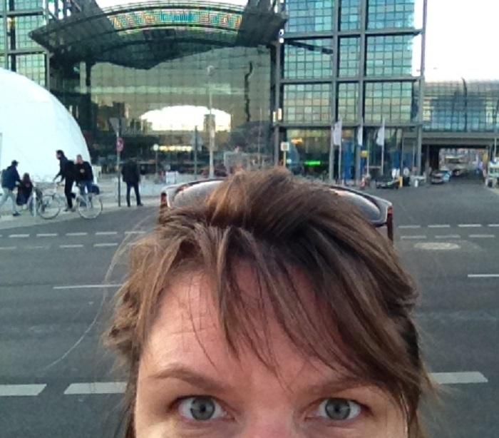 Selfie am Hauptstadtbahnhof (c) S. Plagge