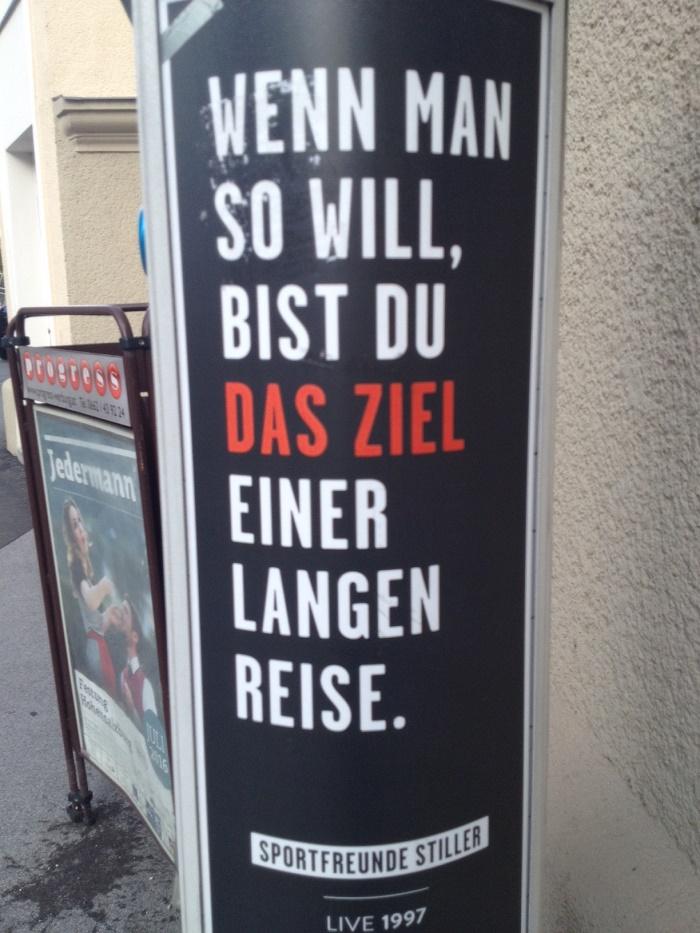 Weisheiten auf Parkuhren in Salzburg