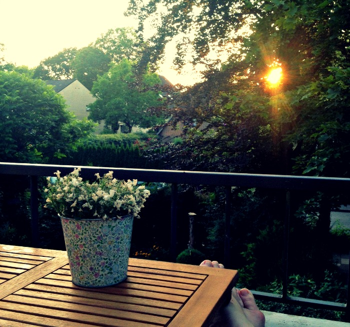 Pause auf dem Balkon (c) Plagge