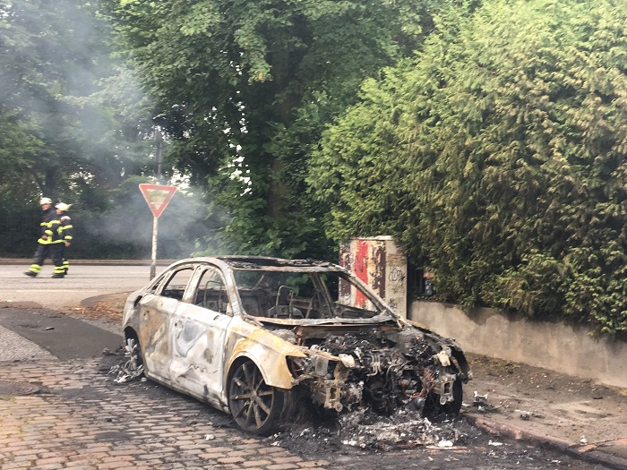 Rückblick G20- ausgebrannte Autos