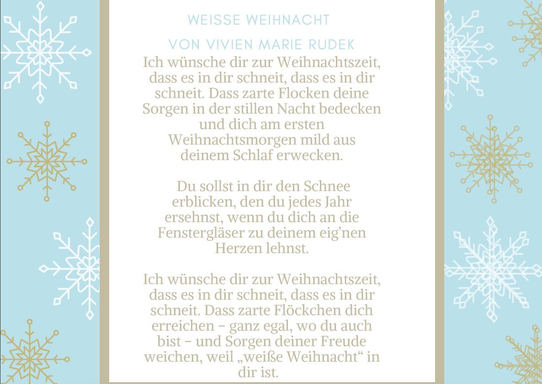 Weihnachtsgedicht von Vivien Marie Rudek 40-something